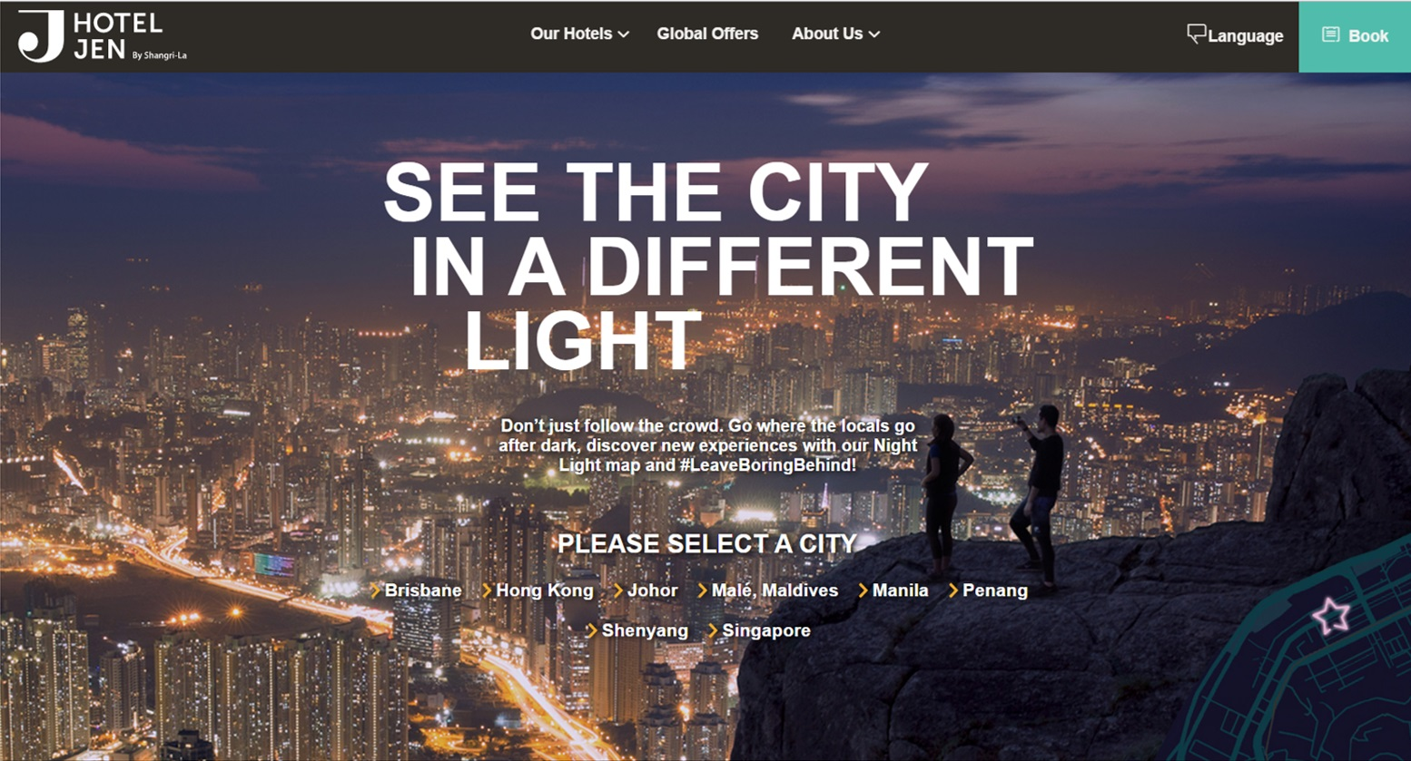 New interactive map lights up nightlife at hotel jen ttg asia new interactive map lights up nightlife at hotel jen gumiabroncs Images