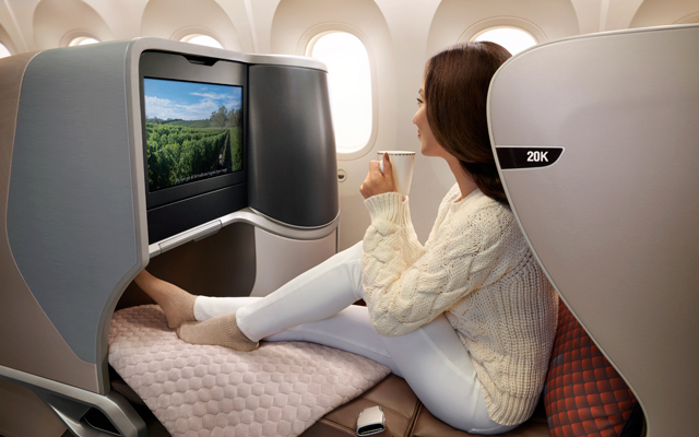 SIA's new Boeing 787-10 Dreamliner features revamped seats in economy class