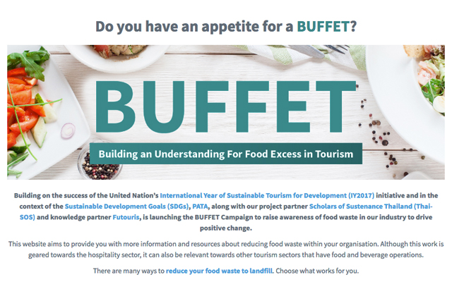 The Travel Corp joins PATA's BUFFET line to curb tourism food waste