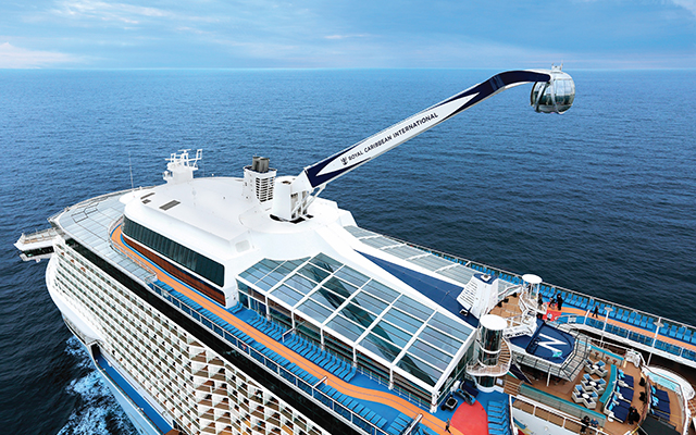 Aerial view with North Star on Quantum of the Seas