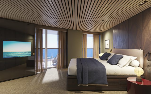The Haven Aft-Facing Penthouse master bedroom