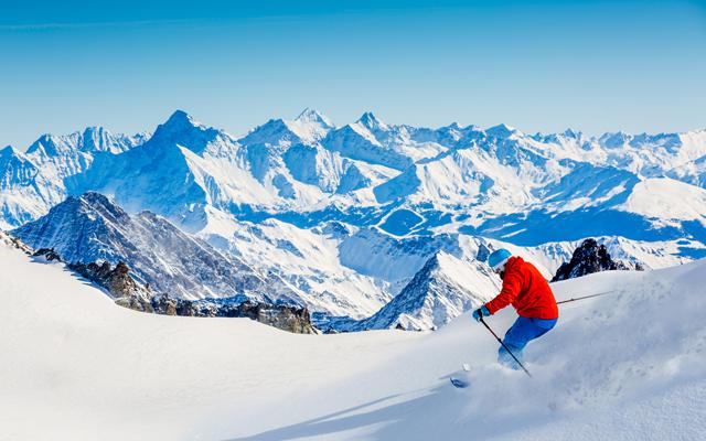 Skiing Vallee Blanche Chamonix shutterstock 735630244